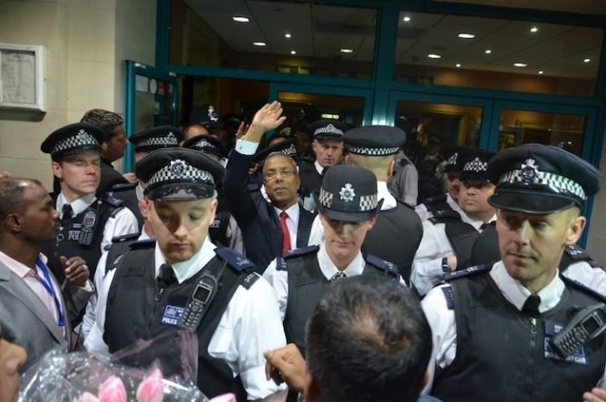 Lutfur Rahman Outside Court