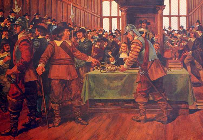 Oliver Cromwell Dissolving Parliament