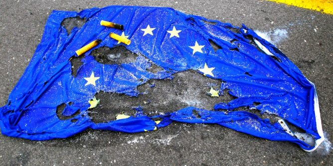 Burnt EU Flag