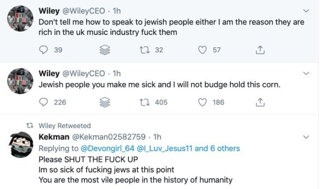Wiley Anti-Semitic Tweets